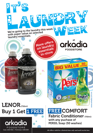 Laundry Week at Arkadia Foodstore