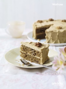 Classic Coffee & Walnut Cake