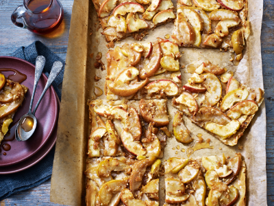 Easy apple and pear filo tart