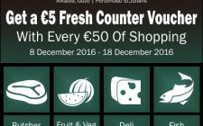 Get a €5 Fresh Counter voucher with every €50 spent at Foodstore