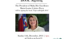 Book Signing by The President of Malta Her Excellency Marie-Louise Coleiro Preca | Tisjir mill-Qalb 2016