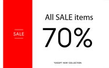 All sale items at 70% off | Blanco