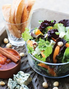 Apricot, Blue Cheese and Hazelnut Salad